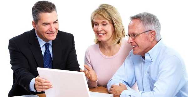Financial adviser with couple